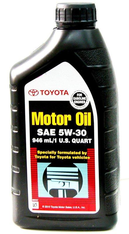 Toyota Motor Oil 5w 30 Sn Sm 1l